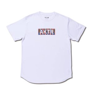 AKTR SUMMER STRIPE BOX LOGO SPORTS TEE 【119-072005】WH|tipoff