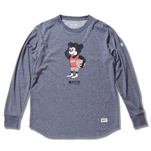 AKTR  NICK BE SHY L/S  TEE   【217014005GRAY】|tipoff