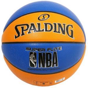 SPALDING NBA スーパーフライト ブルー/オレンジ 合成皮革 7号球 NBAロゴ入り 【76-349Z】 tipoff