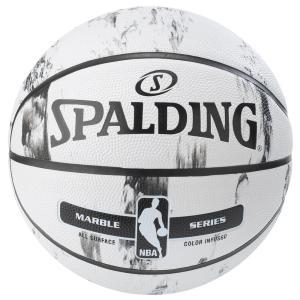 SPALDING マーブルコレクションホワイト 7号球 【83-635Z】 tipoff