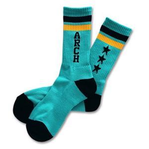Arch triple star mid.socks 【A15-023】mint/black tipoff