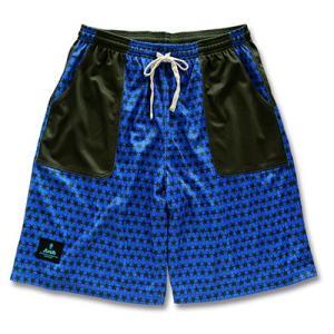 Arch myriad stars shorts【blue/khaki】 B15-013 tipoff