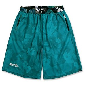 Arch mono flower shorts【turquoise】B16-031 tipoff
