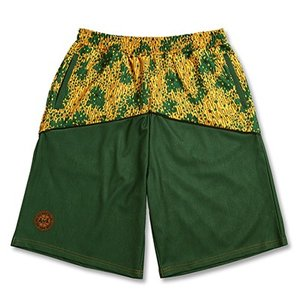 Arch raincamo denim  shorts【green】 B17-002 tipoff
