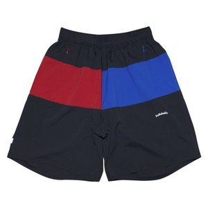 ballaholic 3Tone ANYWHERE Zip Shorts 【BHCSH00167BLK】(black/blue/red)|tipoff