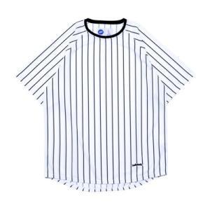 ballaholic STRIPE COOL Tee  【BHCTS00111WBK】white/black|tipoff