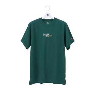 CHAMPION Tシャツ【C3-PB315】ダークグリーン|tipoff