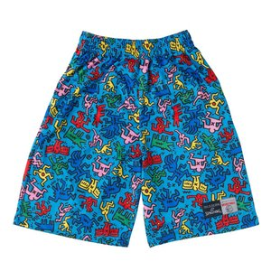 SPALDING×KEITH HARING PRACTICE PANTS SMP160130 ブルー 3XL|tipoff