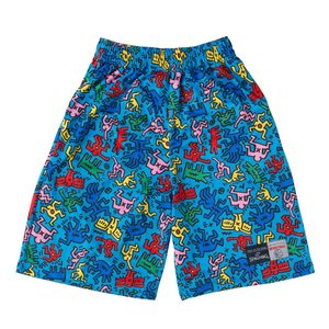 SPALDING×KEITH HARING PRACTICE PANTS SMP160130 ブルー|tipoff