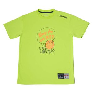 SPALDING Tシャツ 【 SMT180200】LIME GREEN|tipoff