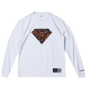 SPALDING L/STシャツ SUPERMAN TEXTART【SMT181270WHT】|tipoff
