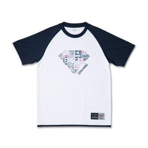 SPALDING  Tシャツ SUPER GIRL【SMT181340WHTNVY】|tipoff