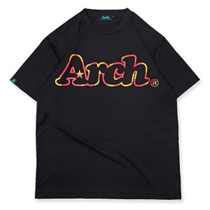 Arch neon outline logo tee [DRY]【T119-127】black|tipoff
