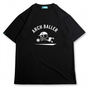 Arch dive tee【black】T17-042 DRY|tipoff