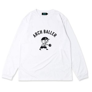 Arch pass the ball L/S tee [DRY]【T320-111】white|tipoff