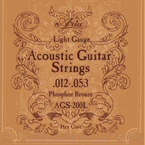 Aria AGS200L Light Acoustic Guitar 《アコースティックギター弦》【ネコポス】