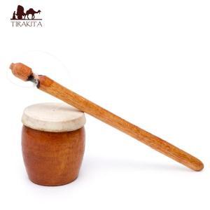 バリのゲロゲロ笛(木目) / おもちゃ 民族楽器 インド アジ レビューでタイカレープレゼント|tirakita-shop