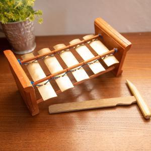 現地土産のミニガムラン 小 / バリ お土産 民族楽器 インド ア レビューでタイカレープレゼント|tirakita-shop