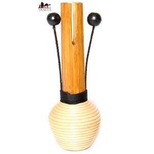 ボンボン付きシェイカー / バリ 打楽器 民族楽器 インド アジ レビューでタイカレープレゼント|tirakita-shop