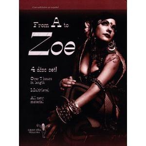 ベリーダンス レッスン DVD パフォーマンス 音楽 エジプシャン アラビアン 中東 エジプト Belly dance 群舞 FROM A to ZOE DVD4枚組 Dance Pixie Vision