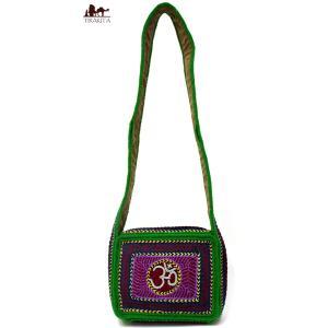 サドゥーが手作り作りのしっかりした長めのバババッグ / ポーチ エスニック アジア インド|tirakita-shop