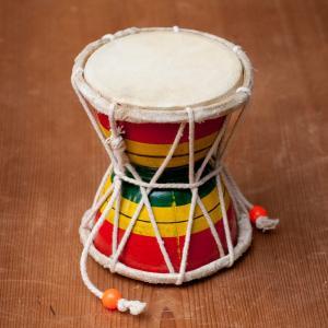 装飾用ダムルー シヴァのでんでん太鼓 / ダムルー、インド 打楽器、打楽器、民族楽器、ドラム、太鼓 ...