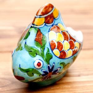陶器 青陶器 ジャイプル ブルーポッタリー ジャイプール陶器のお魚灰皿・小物入れ Blue pott...