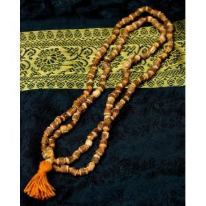 トゥルシー(ホーリーバジル)の数珠 / 数珠、インドの数珠、ネックレス、首飾り、ルドラクシャ、菩提樹...