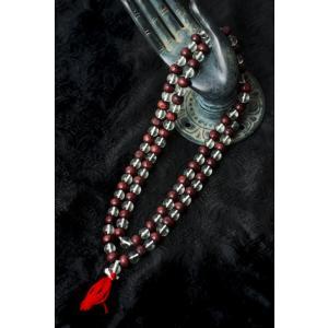 数珠 インドの数珠 ネックレス 首飾り 水晶と紫光白檀 アジア エスニック アクセサリー アンクレッ...