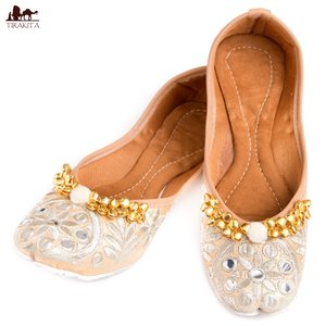 フラットシューズ パンプス 靴 ペッタンコ靴 ゴージャス刺繍のマハラニフラットシューズ インド サリー クルティ チュリダール パンジャビドレス|tirakita-shop