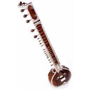 (PALOMA社製)高級シタール+グラスファイバーケース / レビューで300円クーポン進呈 楽器民族楽器 インド アジア エスニック|tirakita-shop