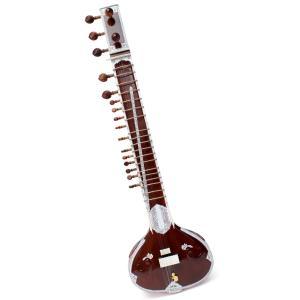 練習用シタール + グラスファイバーケース / レビューで300円クーポン進呈 シタール民族楽器 インド アジア エスニック Sitar|tirakita-shop