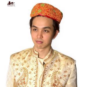 ターバン 結婚式 帽子 ラジャスタンの手作りターバン インド メンズ 男性物 民族衣装 エスニック衣料 アジアンファッション エスニックファッション|tirakita-shop
