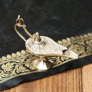 ランプ アラジンランプ オイルランプ 千夜一夜物語 アラビアンナイト 魔法 アラジンの魔法のランプ (8.5cm×6cm) アジアン インド アンティック 金属 製品