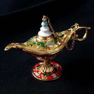 ランプ アラジンランプ オイルランプ 千夜一夜物語 アラビアンナイト アラジンの魔法のランプ (11.5cm×8cm) アジアン インド