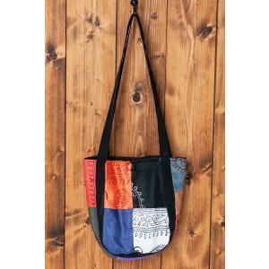 トートバッグ エスニック ラムナミ 神様布 パッチワークトートバッグ (ラムナミ) ポーチ カッチ 刺繍 アジア インド ネパール|tirakita-shop