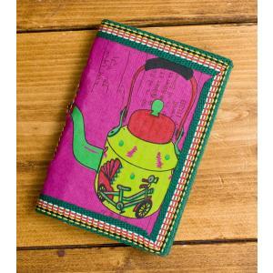 メモ帳 ノート 神様 〈12.8cm×8.5cm〉インドの神様柄紙メモ帳 やかん ロクタ ネパール エスニック アジア 雑貨|tirakita-shop