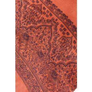 ラムナミ 象 布 100cmx200cm インドの大きなゾウさんルンギー オレンジ アジアン プリント ファブリック|tirakita-shop|03