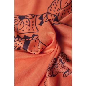ラムナミ 象 布 100cmx200cm インドの大きなゾウさんルンギー オレンジ アジアン プリント ファブリック|tirakita-shop|05