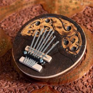 7弦ココナッツカリンバ (ナチュラル・小) / 親指ピアノ サムピアノ 民 レビューでタイカレープレゼント|tirakita-shop