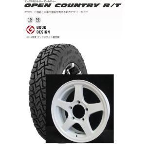 リフトアップ仕様ジムニー!オフパフォーマー RT-5N ホワイトとTOYO オープンカントリー R/T 185/85R16 105/103L 4本セット|tire-access