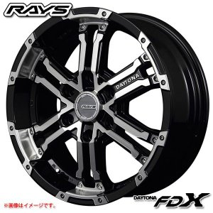レイズ デイトナ FDX DK 8.0-17 ホイール1本 DAYTONA FDX DK|tire1ban