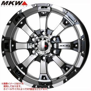 MKW MK-46 DCGB 8.5-18 ホイール1本 MK-46 Diacut Glossblack|tire1ban