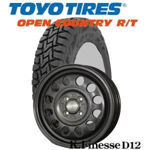 軽トラ、軽バン145/80R12 TOYO/OPEN COUNTRY R/T 12x3.50B 4/100 K.Finesse D12 /ケイフィネス D-12|tiremart24