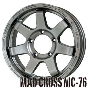200系ハイエース【アルミ単品4本価格】:MAD CROSS MC76/マッドクロス MC76 15X6.0J 6穴 PCD:139.7 ds tiremart24