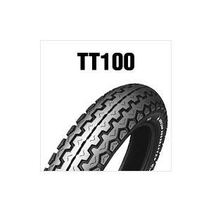 TT100 3.50-8 46J WT  ダンロップ 前後共用 チューブタイプ|tireoukoku