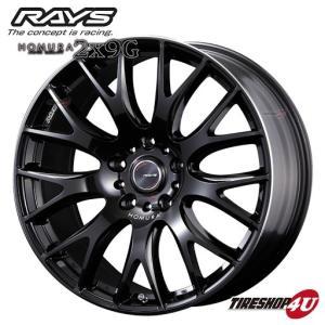 4本購入で送料無料 RAYS HOMURA 2X9G 22インチ 22x10.0J 5/150 +45 PVK ブラックマイカ/リムエッジDMC 新品ホイール1本価格