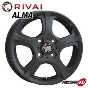 RIVAI ALMA 12×4.0J 4/100 +42 マットブラック 軽自動車|tireshop4u