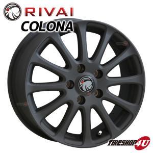 在庫処分特価!RIVAI CORONA 15×6.0J 5/100 +43 マットブラック プリウス シエンタ など トヨタ純正アルミナット使用|tireshop4u