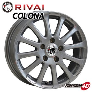 RIVAI CORONA 16x6.5 5/114.3 +38 ガンメタリック マークX スカイライン など|tireshop4u